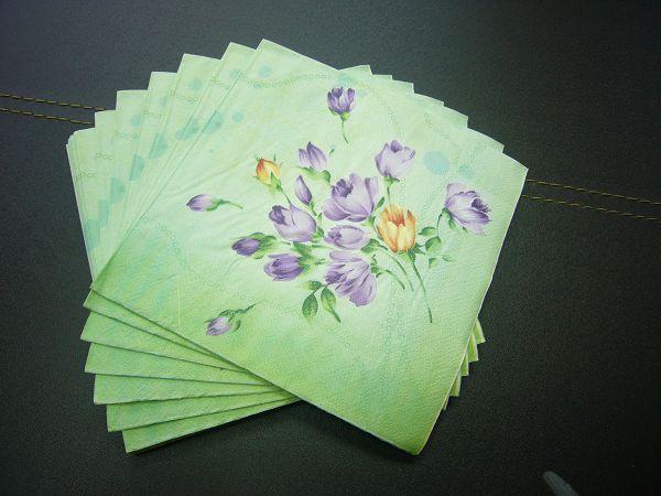 蝶古巴特植物花卉餐巾紙AD003~紫桔梗