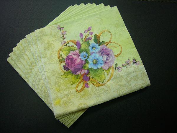 蝶古巴特植物花卉餐巾紙AD002~花束