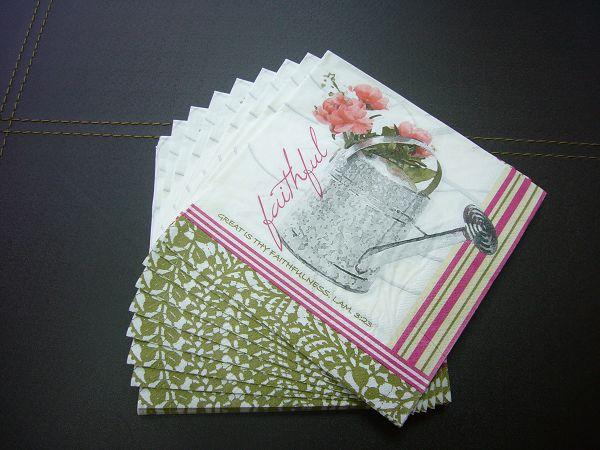 蝶古巴特雜貨風餐巾紙AG001~馬口鐵澆花器