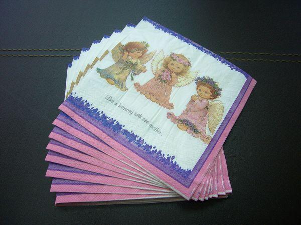 蝶古巴特聖誕餐巾紙AC004~花冠小天使