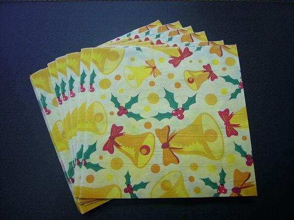 蝶古巴特聖誕餐巾紙AC001~鈴鐺
