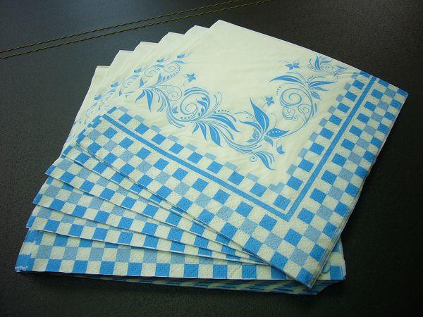 蝶古巴特普普風餐巾紙AI0005 ~藍向量花