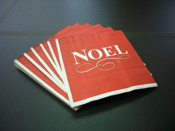 蝶古巴特聖誕餐巾紙AC009~Noel