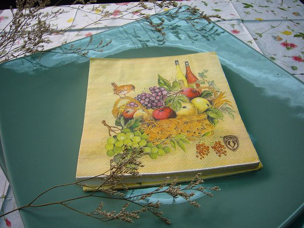 蝶古巴特靜物寫生畫餐巾紙BE0001豐盛*1張