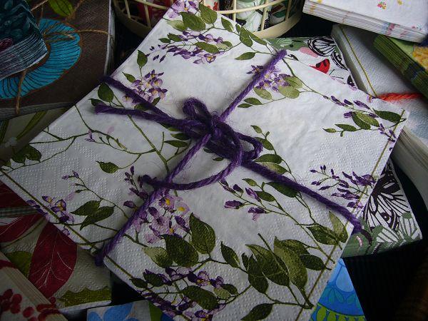 蝶古巴特植花餐巾紙CAA003~小紫串花