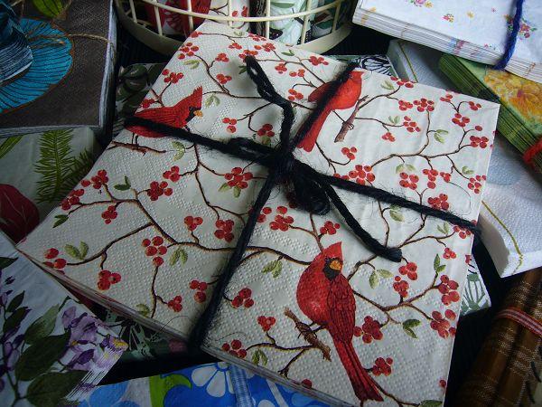 蝶古巴特餐巾紙CBB003~小紅果與小紅鳥(限購1張)
