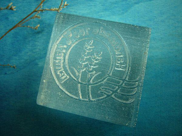 100-61透明壓克力皂章 小圓*1....代購