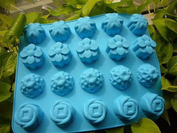 20-5(LI001)  20孔矽膠模~20孔組合花模*1