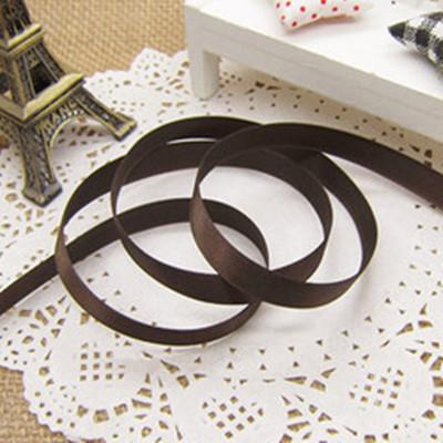 緞帶-15 深咖啡色緞帶(寬1cm)*1卷(25碼)