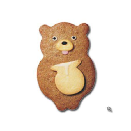 森林系餅乾模-2  蜜罐熊餅乾模*1