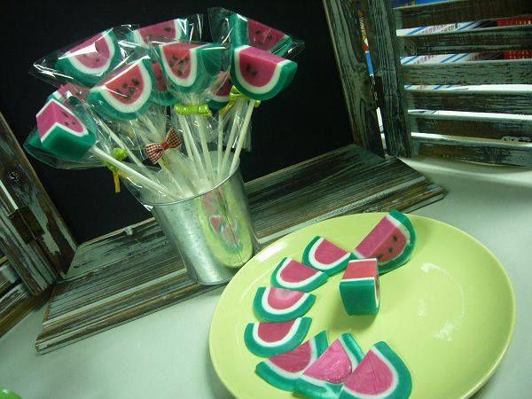 皂基-9  棒棒糖西瓜皂教學課程*1