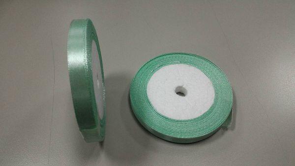 緞帶-21 淺綠色緞帶(寬1cm)*1卷(25碼)