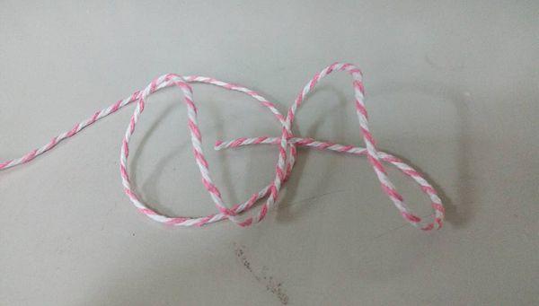 未過蠟棉線-6 24股粉紅白相間(5公尺)*1