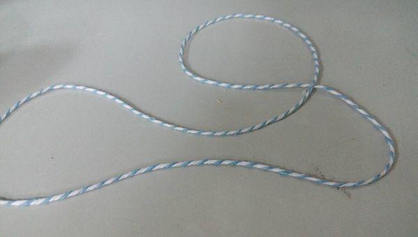未過蠟棉線-7 24股籃白相間(5公尺)*1