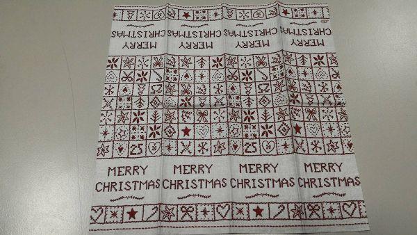 (a1060315-1)蝶古巴特餐巾紙*1張(merry christmas)