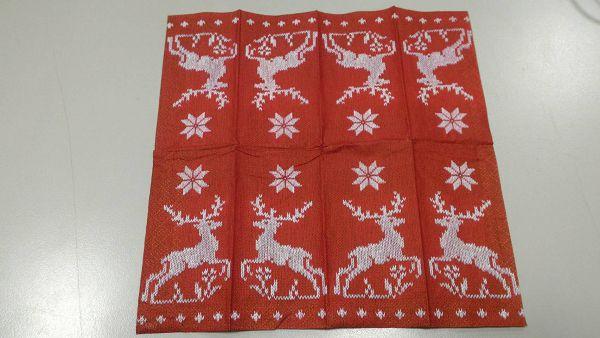 (a1060315-2)蝶古巴特餐巾紙*1張(麋鹿)