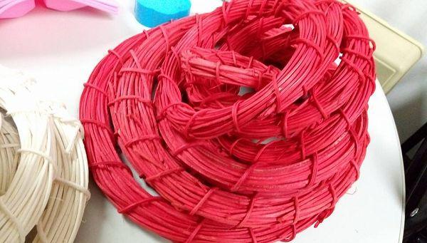 藤圈類-24 紅色藤圈(外直徑25cm)*1