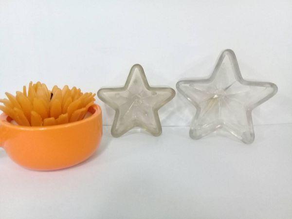 手作蠟燭浮水蠟燭模-4  五角星蠟燭模(6.3*2.8cm)大*1