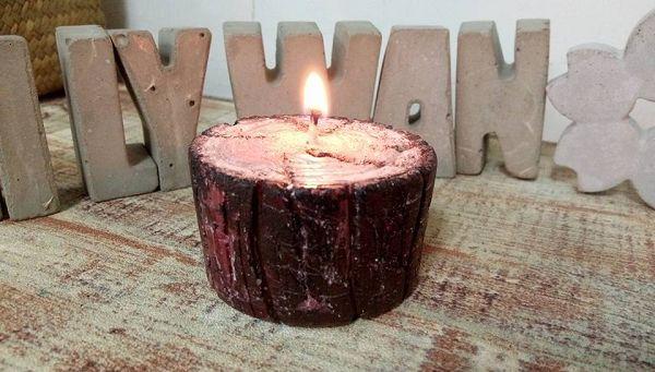 木頭蠟燭-1   木頭蠟燭*1