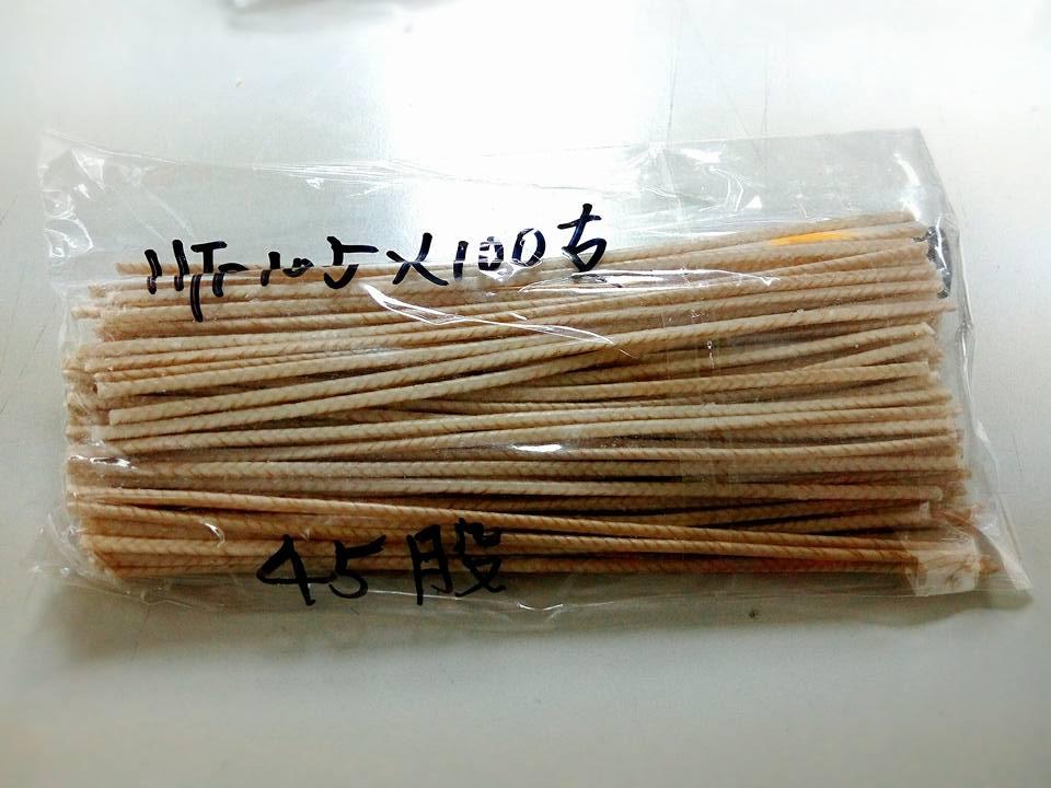 HTP105進口大豆蠟棉芯-2  長15公分45股*10支