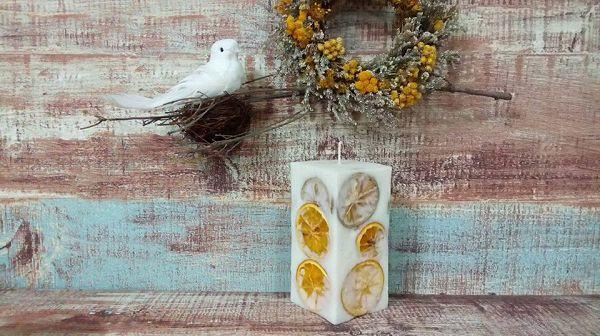 乾花乾果蠟燭-2 橘片大豆蠟燭-1