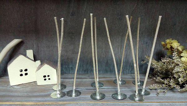 進口蠟燭棉芯-3   含底座蠟燭棉芯15cm(10支)*1